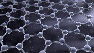 石墨烯,是由碳原子(圖中黑點)以六角形組成的一片薄膜,薄膜的厚度只有一個碳原子高。圖片來源│IStock