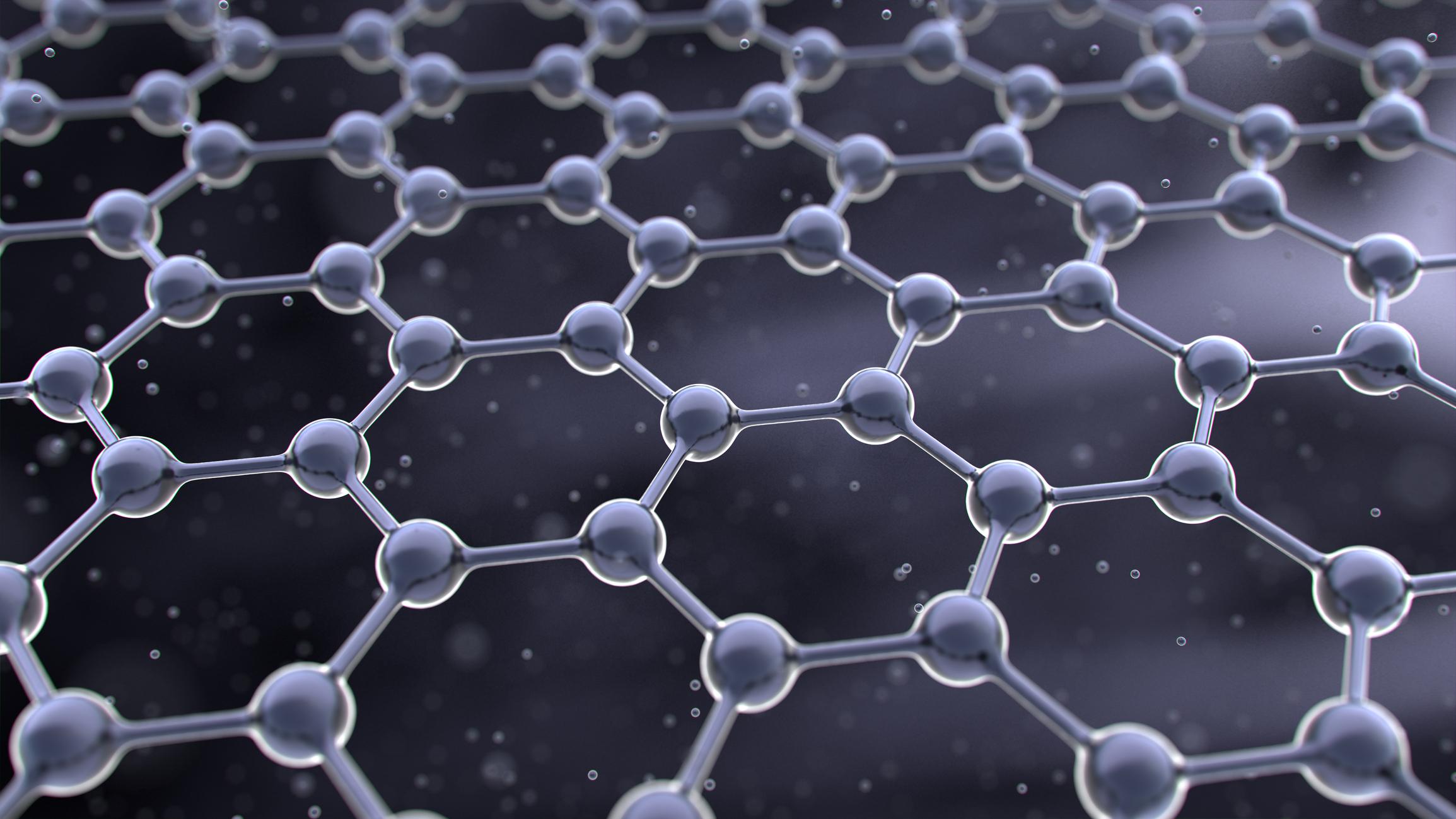 石墨烯,是由碳原子(圖中圓點)以六角形組成的一片薄膜,薄膜的厚度只有一個碳原子高。示意圖來源│iStock