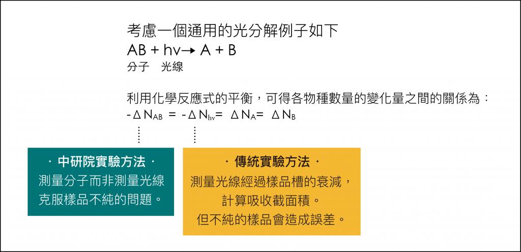 中研院從「分子」找答案 vs 傳統實驗從「光線」找答案。圖說設計|林婷嫻、張語辰
