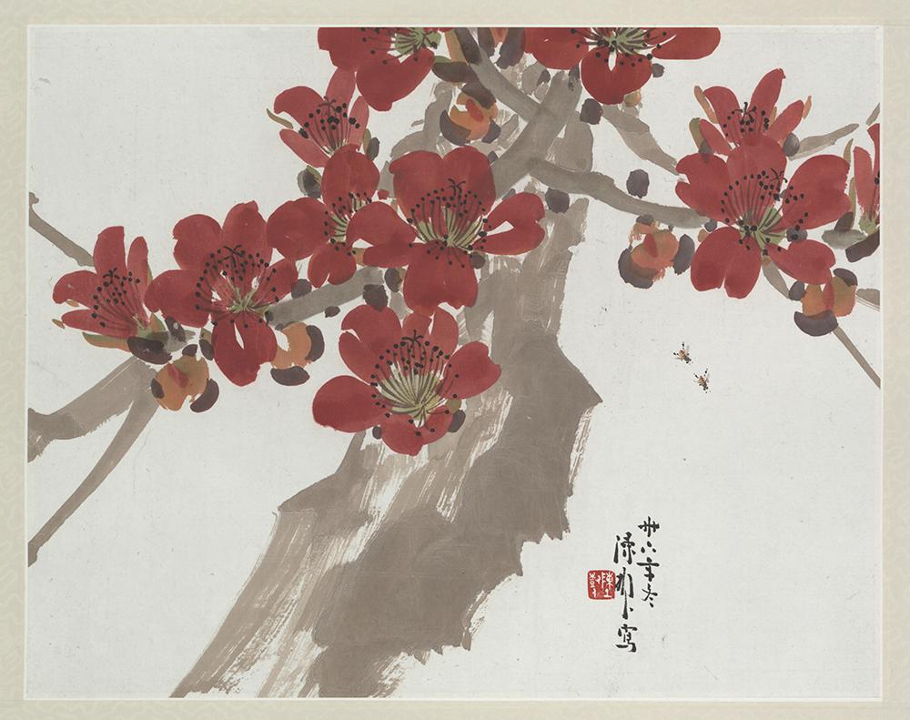 陳樹人《紅棉》:木棉花是嶺南代表花卉。 圖片來源│嶺南美術館
