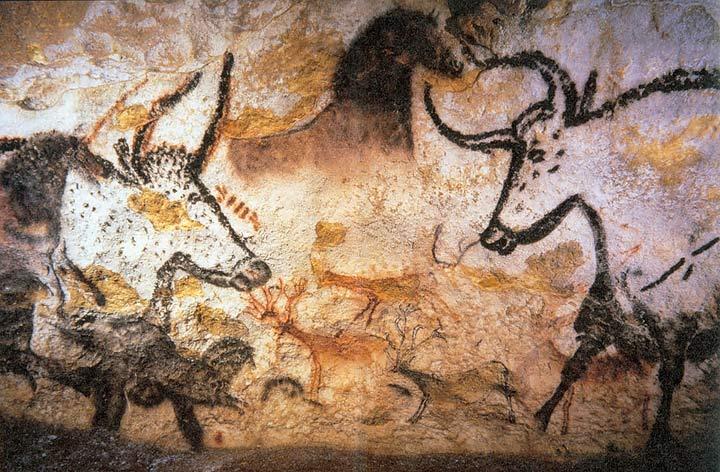 舊石器時代的人類,已經懂得取材自然界有機物質,用大地色描繪生活所見。 圖片來源│Prof saxx