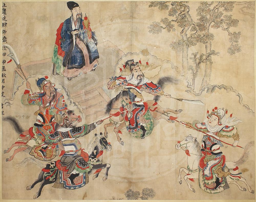 儀式畫既是圖畫也是儀式,僅擷取文本中的部分情節,就能產生無限寓意。資料來源│文哲所圖書館