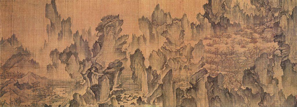 15 世紀時,安平大君夢到和朋友到桃花源遊玩,醒來後就叫安堅畫成〈夢遊桃源圖〉。而這幅畫到了 2017 年,延伸成為李英愛主演的韓劇《師任堂,光的日記》。 圖片來源│Ahn Gyeon (http://gongu.copyright.or.kr/) [Public domain], via Wikimedia Commons