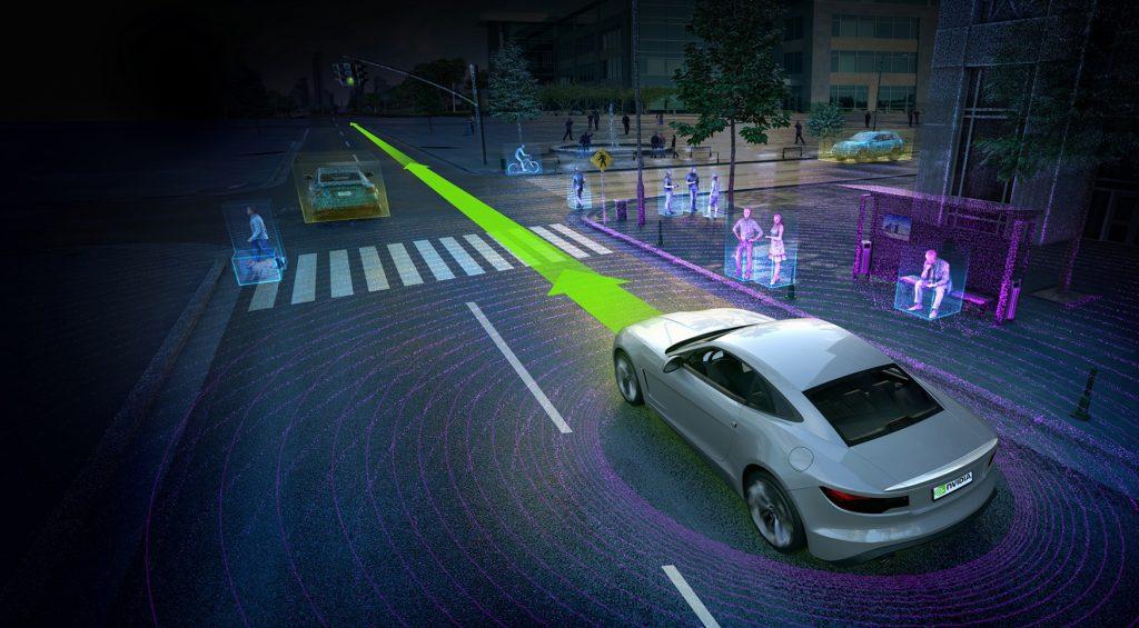 NVIDIA 自動駕駛系統:用深度學習,教電腦辨認哪裡有路可走,才不會撞上任何障礙物。 資料來源│Volvo Cars and Autoliv Select NVIDIA DRIVE PX Platform for Self-Driving Cars