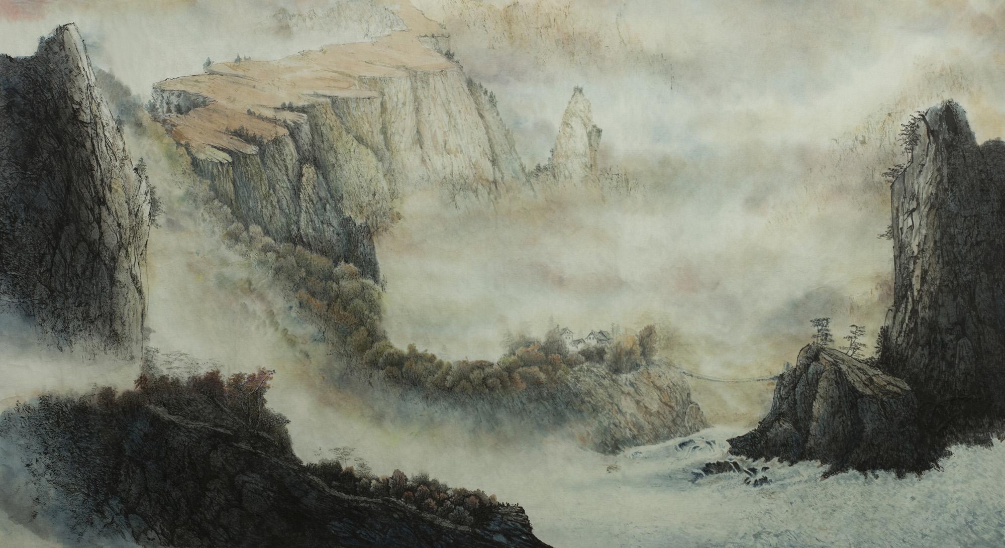嶺南山水示意圖。古人認為的瘴,產生於濕熱的南方風土之中,像是山林環境中因為某些因素(例如動植物腐敗等)而產生的致病毒氣。圖│iStock