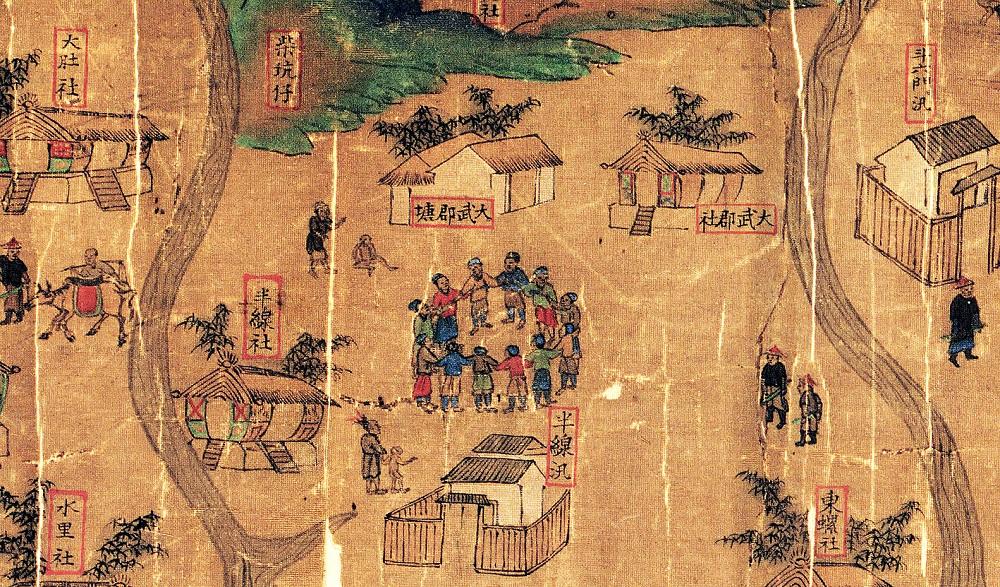 大肚番王的統轄圖中的大肚社、大武郡社、水里社等,是當時少數重創外來勢力的原住民族群。圖│《解碼臺灣史 1550-1720 》,翁佳音、黃驗提供