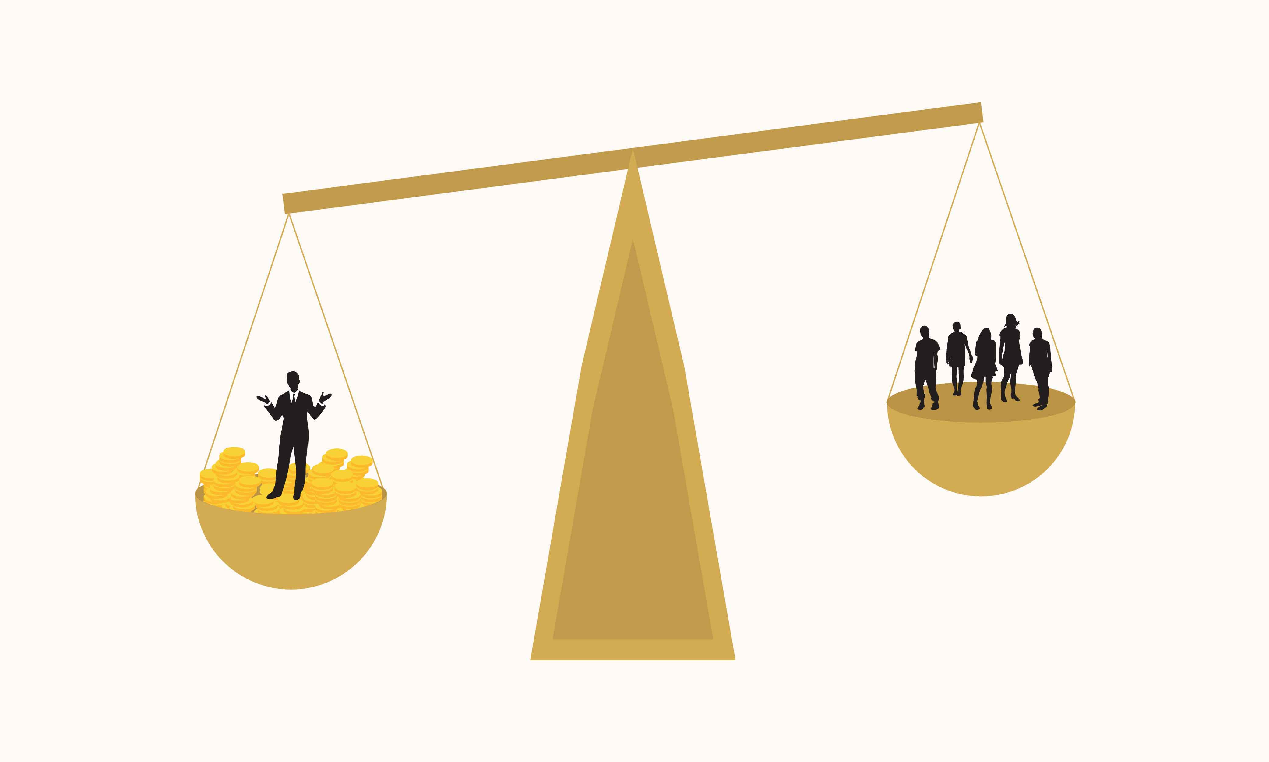 從實證研究結果看見,法律對權貴者與弱勢者來說,並不是機會均等的。這是政治學中「資源不平等理論」的體現。 圖說設計│黃楷元、張語辰