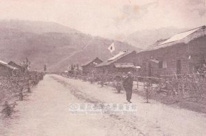 日治時期,位於台灣的日本移民部落。圖│國立臺灣大學圖書館藏