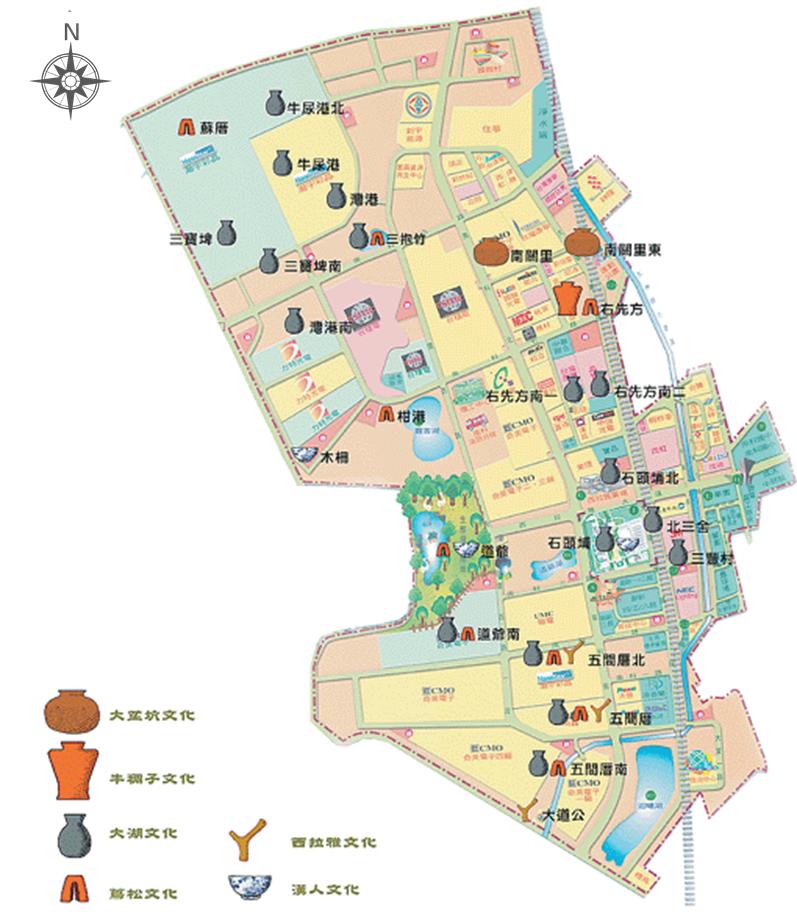 南科遺址分布位置圖。圖│南科考古隊