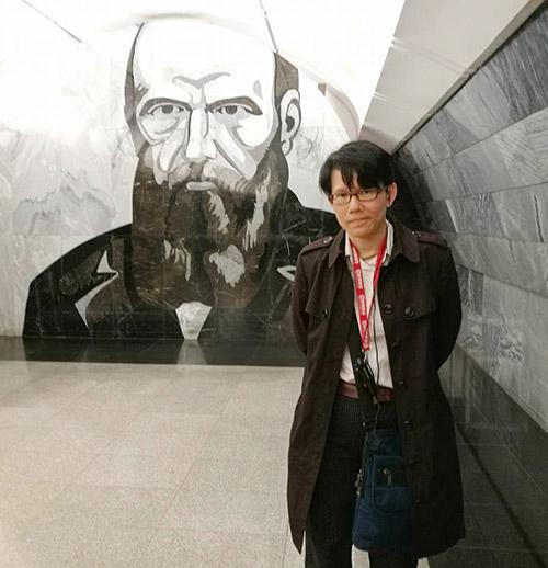 鑽研當代中國與俄蘇文學的陳相因。圖│陳相因提供,攝於杜斯妥也夫斯基車站