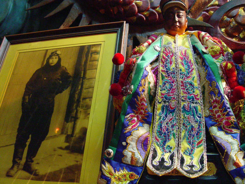 台南海尾鎮安堂飛虎將軍廟,祭祀著年輕的日本海軍飛行員──杉浦茂峰。圖│王俊凱