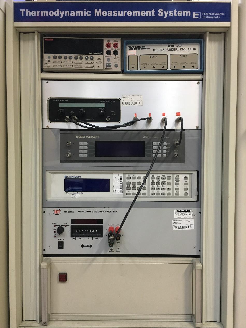 陳洋元自行開發的低溫比熱系統。 圖片來源│陳洋元提供