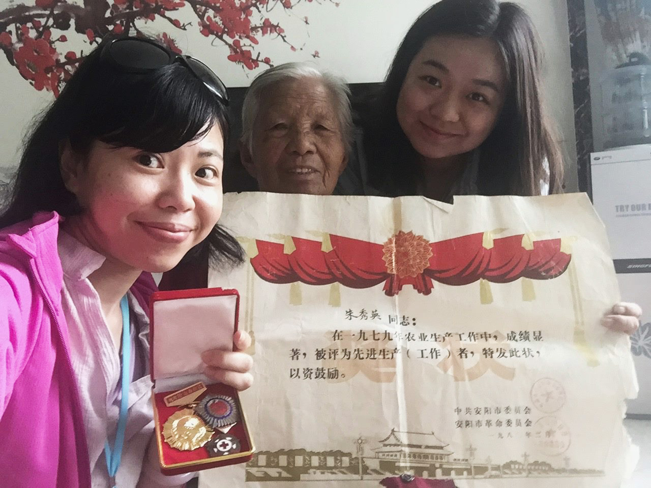 王舒俐一趟「無心插柳」的田野調查,為中國河南安陽小村的「地方營造」歷程,留下了珍貴的記錄與觀點。 圖片來源│王舒俐(圖左)