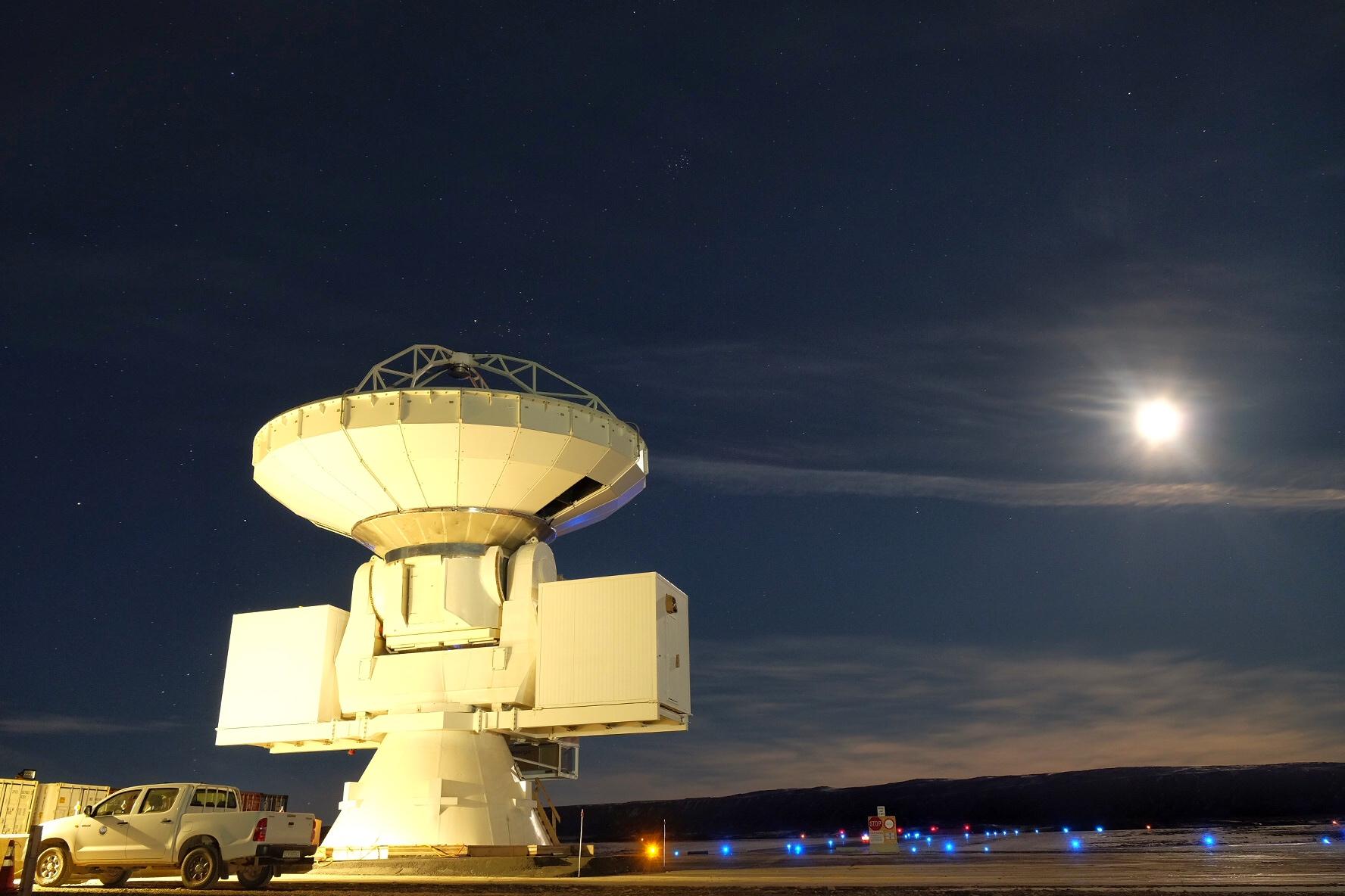 在格陵蘭建造望遠鏡,除了靠天吃飯,也需要有經驗的天文工程團隊。圖片來源│格陵蘭望遠鏡網站