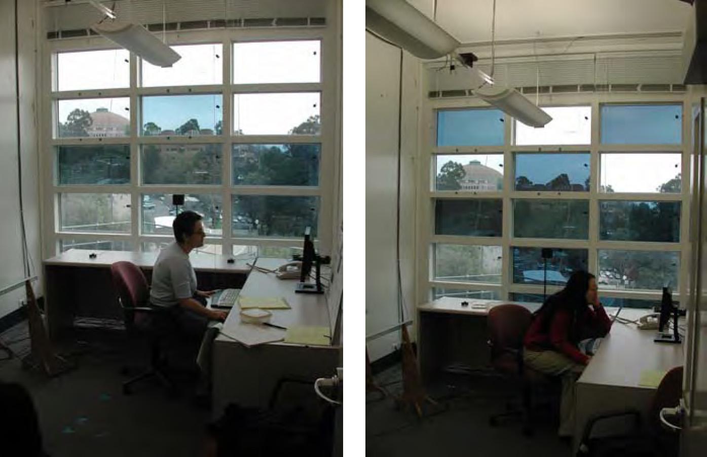 深色部分為通電變色的窗戶,也可以隨著喜好或隱私需求,切換變色的區塊。資料來源│顏宏儒