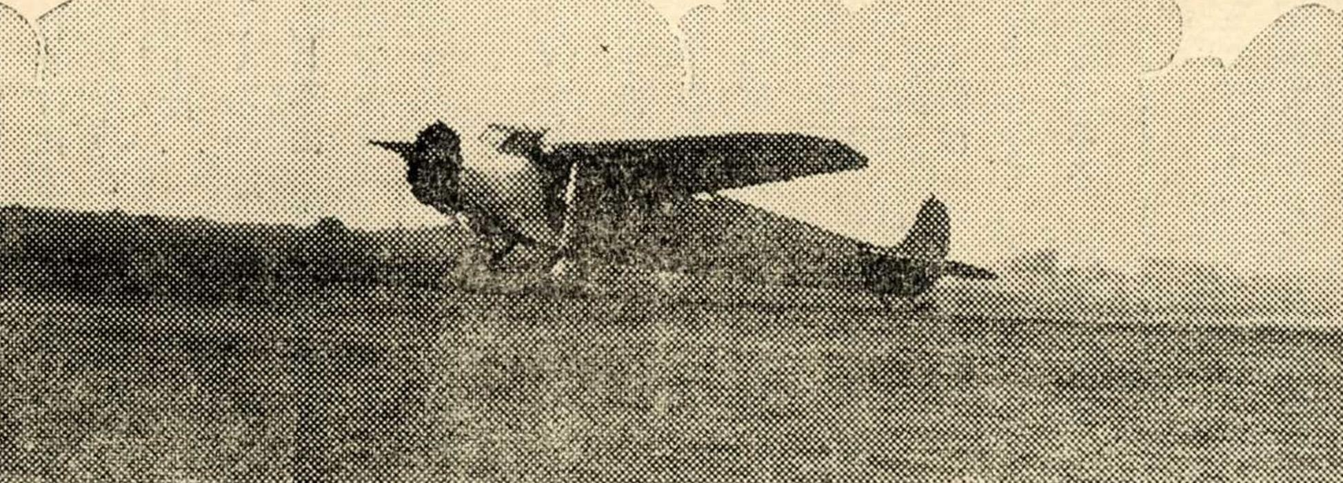 臺南飛行場與當時的飛機。圖片來源│臺灣三成協會編(昭和 12 年 [1937])《まこと》第 277 號,國立臺灣圖書館藏