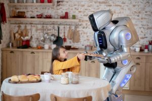 AI 看圖說故事的能力,可讓照顧居家照護機器人了解眼前的情境,知道如何找話題與人交談,變得溫暖許多。圖片來源│iStock